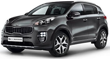 car hire company Kia sport 3
